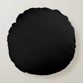 Parte alta negra coloreada cojín redondo