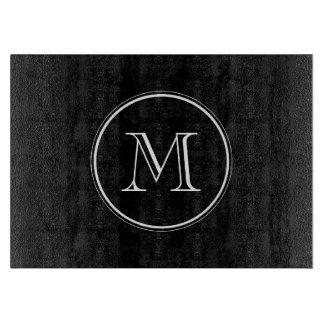 Parte alta negra inicial del monograma coloreada tablas para cortar