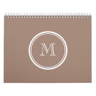 Parte alta personalizada de Brown del castor color Calendario