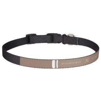 Parte alta personalizada de Brown del castor color Collares Para Perros