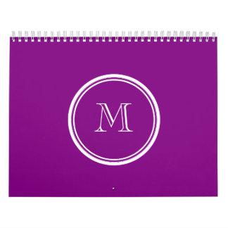 Parte alta púrpura del patriarca coloreada calendario de pared