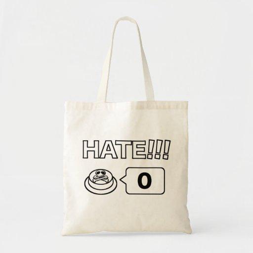 Parte/botón social: Te amo: ¡Odio!!! 0 Bolsa Tela Barata