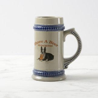 Parte de Boston Terrier regalos de una cerveza Jarra De Cerveza