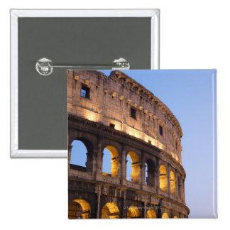 Parte de Colosseum en la oscuridad Pin Cuadrada 5 Cm