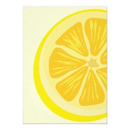 Parte de la invitación del limón