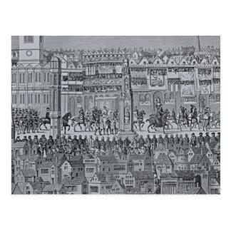 Parte de la procesión de la coronación de Edward Tarjeta Postal