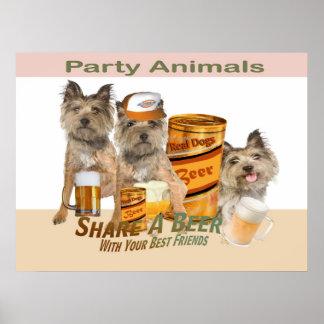 Parte de Terrier de mojón un poster de la cerveza