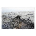 Parte de un pulido de aceite en el Golfo de México Fotografía