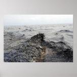 Parte de un pulido de aceite en el Golfo de México Póster