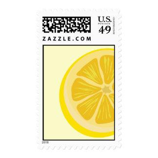 Parte del franqueo del limón