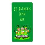 Parte del irlandés del día del St Patricks de la e Etiqueta De Envío