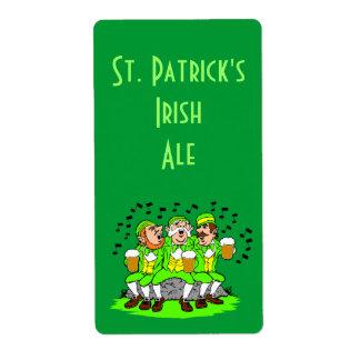 Parte del irlandés del día del St Patricks de la e Etiquetas De Envío