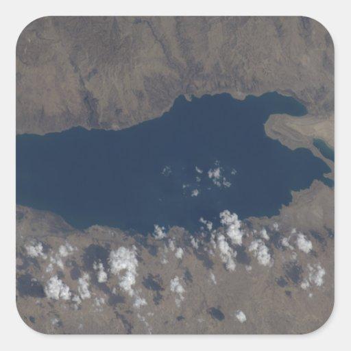 Parte del mar muerto pegatina cuadrada
