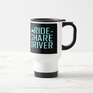 Parte del paseo que conduce al conductor Rideshare Taza De Viaje