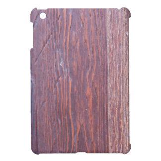 Parte del primer de madera del marrón de la puerta