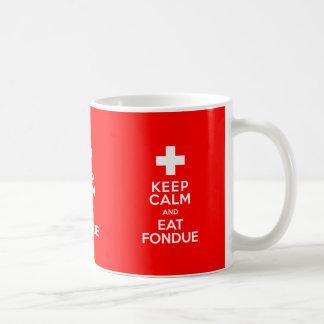 """¡Parte del suizo! ¡Mantenga tranquilo y coma la """"f Taza De Café"""