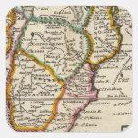 Parte del sur de África y de Magadascar Pegatina Cuadrada