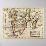 Parte del sur de África y de Magadascar Póster