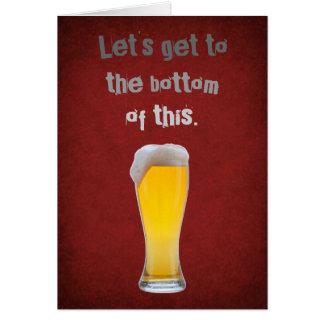 Parte inferior de la cerveza tarjeta de felicitación