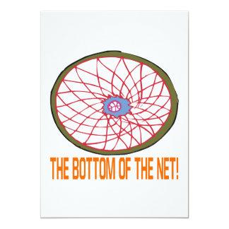 """Parte inferior de la red invitación 5"""" x 7"""""""