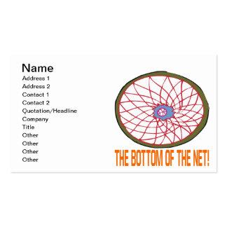Parte inferior de la red tarjetas de visita