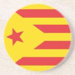 """Parte inferior - de - vidrio Bandera Catalana """"Ser Posavaso Para Bebida"""