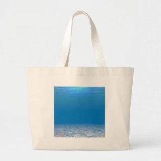 Parte inferior del mar bolsa tela grande