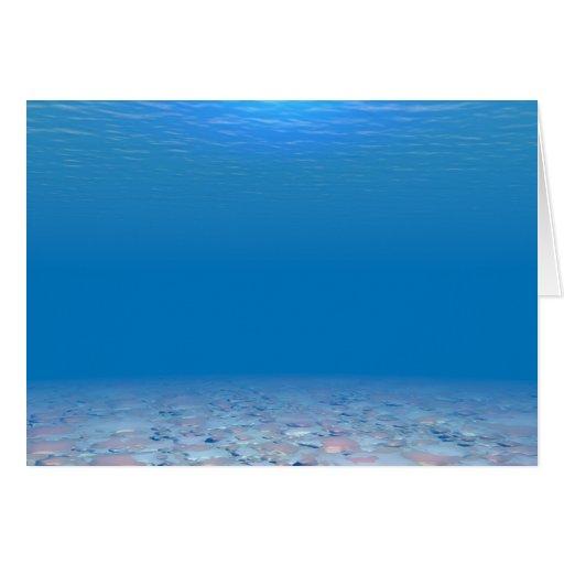 Parte inferior del mar tarjetón