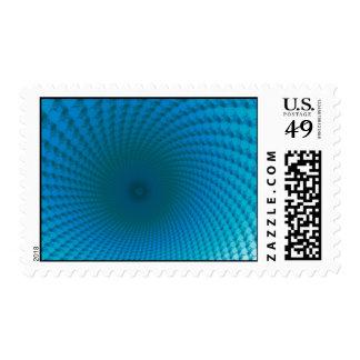 Parte inferior del sello azul profundo del mar