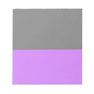 parte inferior púrpura superior negra 50 lightness bloc de notas