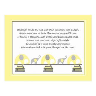 Parte movible amarillo de los elefantes para la tarjeta postal