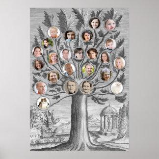 Parte movible antiguo del árbol de familia sus pro póster