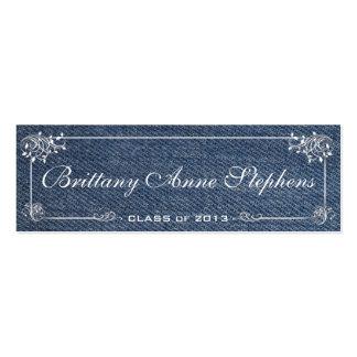 Parte movible azul de la tarjeta de presentación d plantillas de tarjetas personales