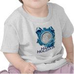 PARTE MOVIBLE azul del copo de nieve SU FOTO Camiseta