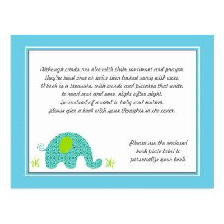 Parte movible azul y verde de la fiesta de bienven tarjeta postal