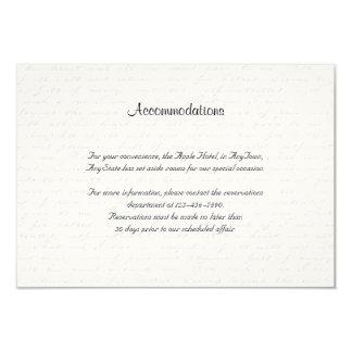 """Parte movible color de rosa negro del boda de la invitación 3.5"""" x 5"""""""