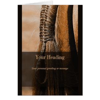 Parte movible de la foto del caballo tarjeta de felicitación
