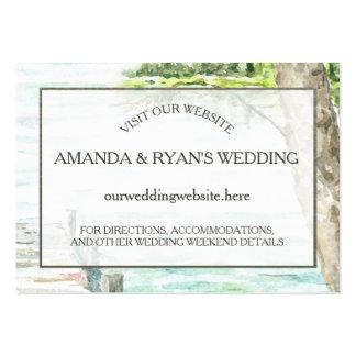 Parte movible de la información del boda del lago tarjetas de visita grandes