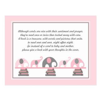 Parte movible de los elefantes rosados para la postal