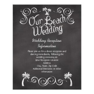 """Parte movible del boda de playa de la palmera de l folleto 4.5"""" x 5.6"""""""