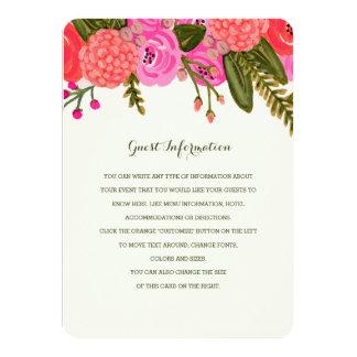 """Parte movible del boda del jardín del vintage invitación 4.5"""" x 6.25"""""""
