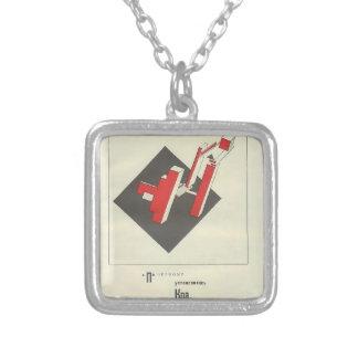 Parte movible del EL Lissitzky- el el rojo y claro Pendiente