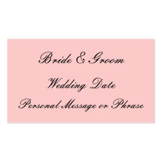 Parte movible del recordatorio del boda para las i tarjetas de visita