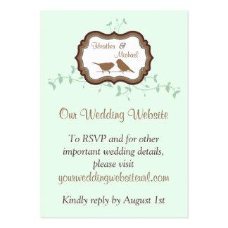 Parte movible del Web site del boda del chocolate Tarjetas De Visita Grandes