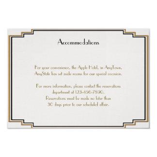 """Parte movible elegante del boda del oro del art invitación 3.5"""" x 5"""""""