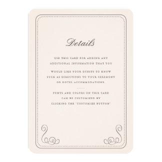 """Parte movible elegante del boda invitación 4.5"""" x 6.25"""""""