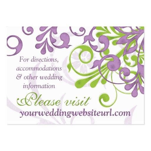 Parte movible floral blanco verde púrpura del Web