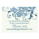 Parte movible floral de marfil azul marino del Web Tarjeta De Visita