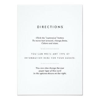 """Parte movible minimalista del boda invitación 4.5"""" x 6.25"""""""