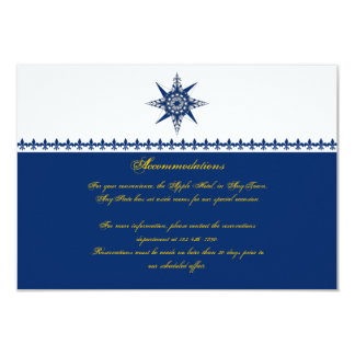 Parte movible náutico del boda del amarillo de la invitación 8,9 x 12,7 cm